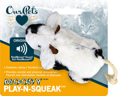 Ourpets Company-Play-n-squeak Moody Cow