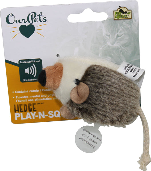 Ourpets Company - Hedgehog Play-n-squeak Cat Toy