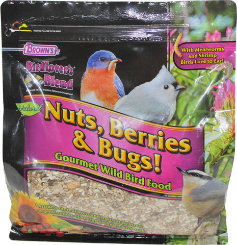 F.m. Browns  Wildbird - Bird Lover's Nuts Berries & Bugs (Case of 3 )