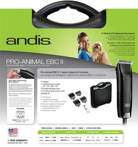Andis Company - Pro-animal Ebcii Detachable Blade 2-speed Clipper