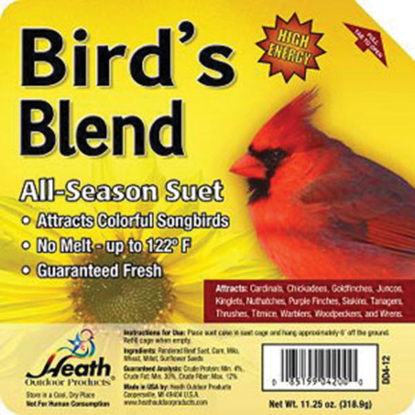 Heath Mfg Co            P - Bird's Blend All-season High Energy Suet