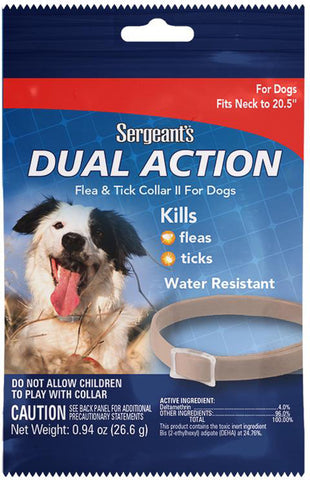 Sergeants Pet Care Produc - Sergeants Dual Action Flea & Tick Collar For Pup