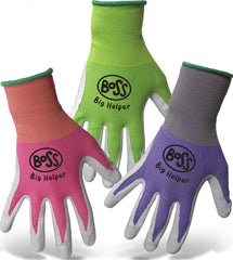 Boss Manufacturing      P - Kid's Boss Big Helper Nylon Shell Nitrile Palm (Case of 12 )