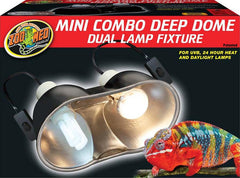 Zoo Med Laboratories Inc - Mini Combo Deep Dome Dual Lamp Fixture