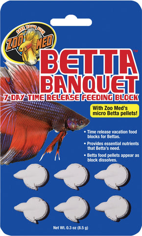 Zoo Med Laboratories Inc - Betta Banquet Feeding Block 7 Day Time Release