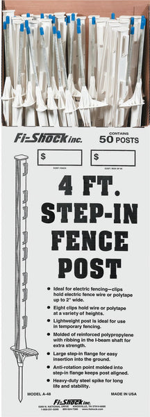Woodstream Zareba - White Step-in Fence Post (Case of 50 )