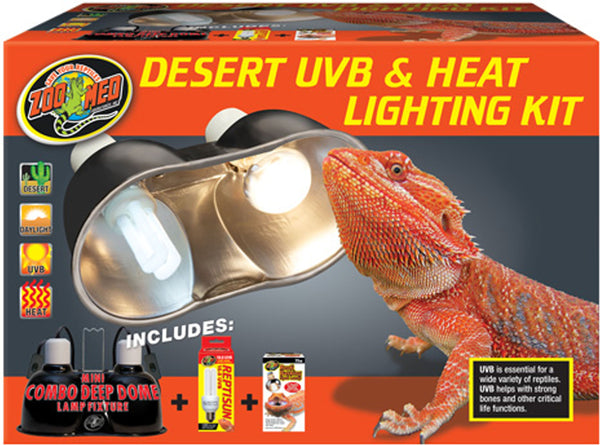 Zoo Med Laboratories Inc-Desert Uvb And Heat Lighting Kit