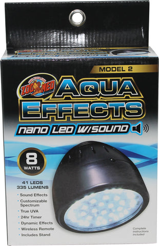 Zoo Med Laboratories Inc - Aquaeffects Model 2 Nano Led Light With Sound