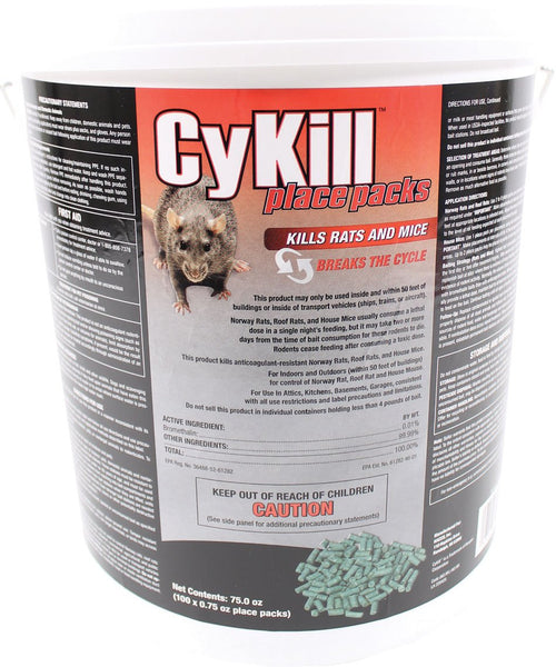 Neogen Rodenticide      D - Cykill Place Packs