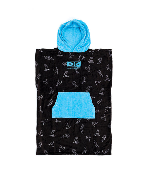 Ocean & Earth Hooded Poncho Youth