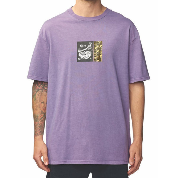 Globe Camiseta Hombre Hammered Tee Grape