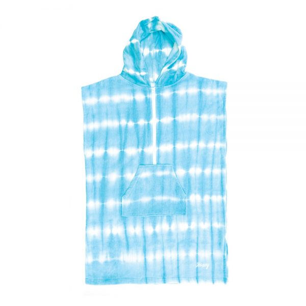 Ocean & Earth Hooded Poncho Ladies Tie Dye Zip