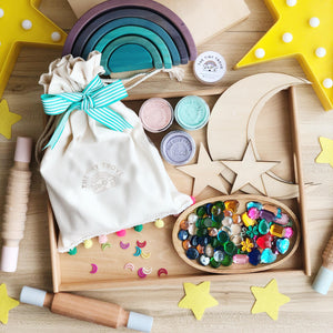 Ramadan & Eid Mubarak Stars and Crescent Play Dough Kit Set