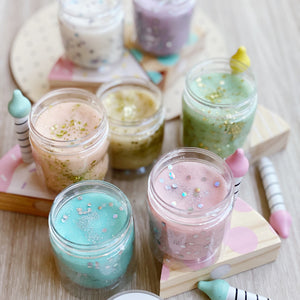 Pastel Glitter Play Dough 6 Tubs Set