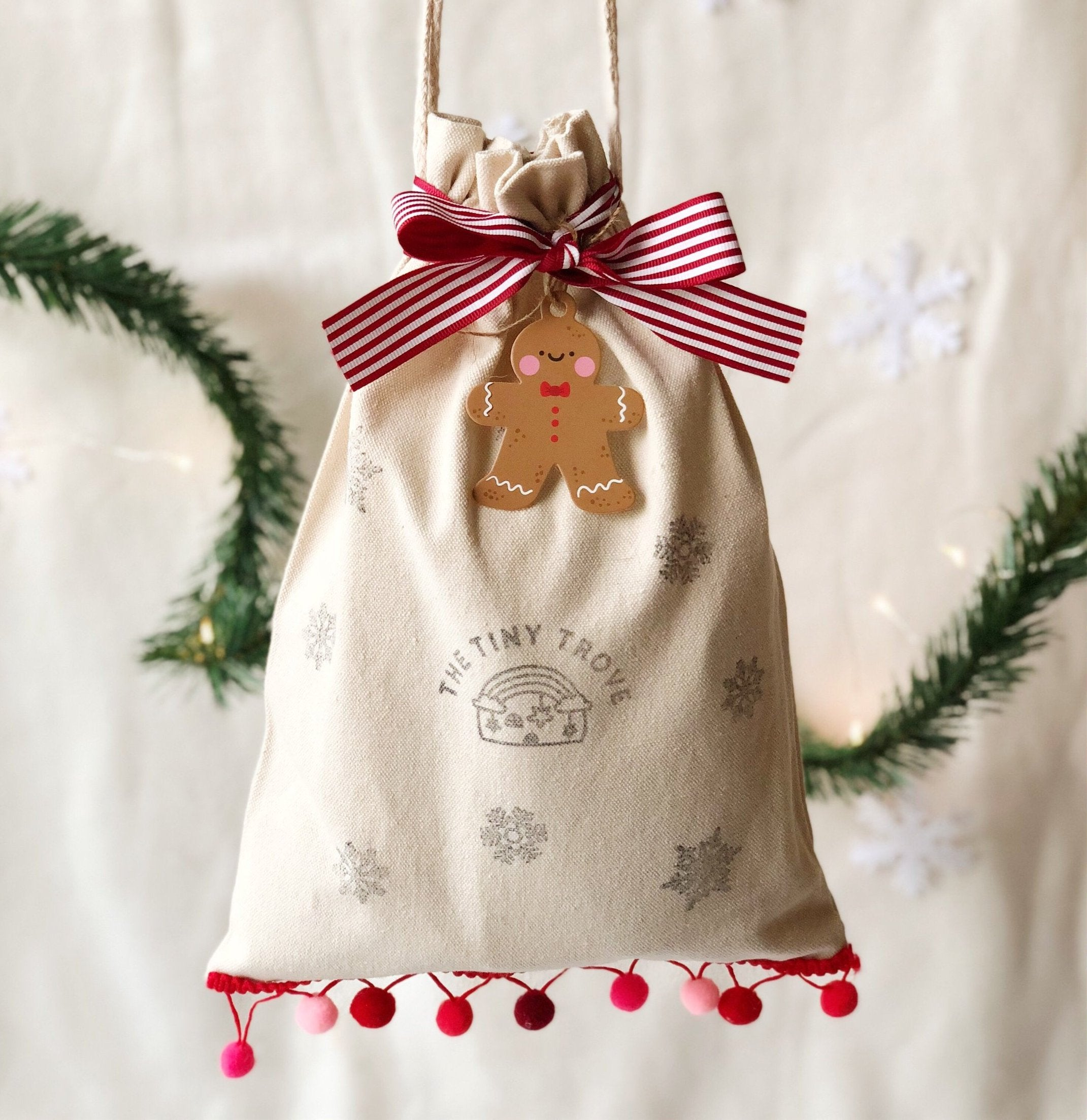 The Tiny Trove Christmas Canvas Sack (Gift Packing)