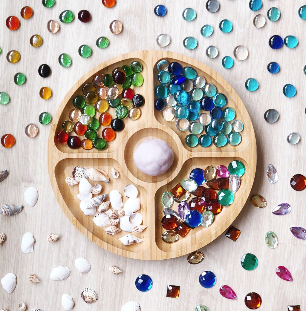 Wooden Sensory Play Sorting Tray