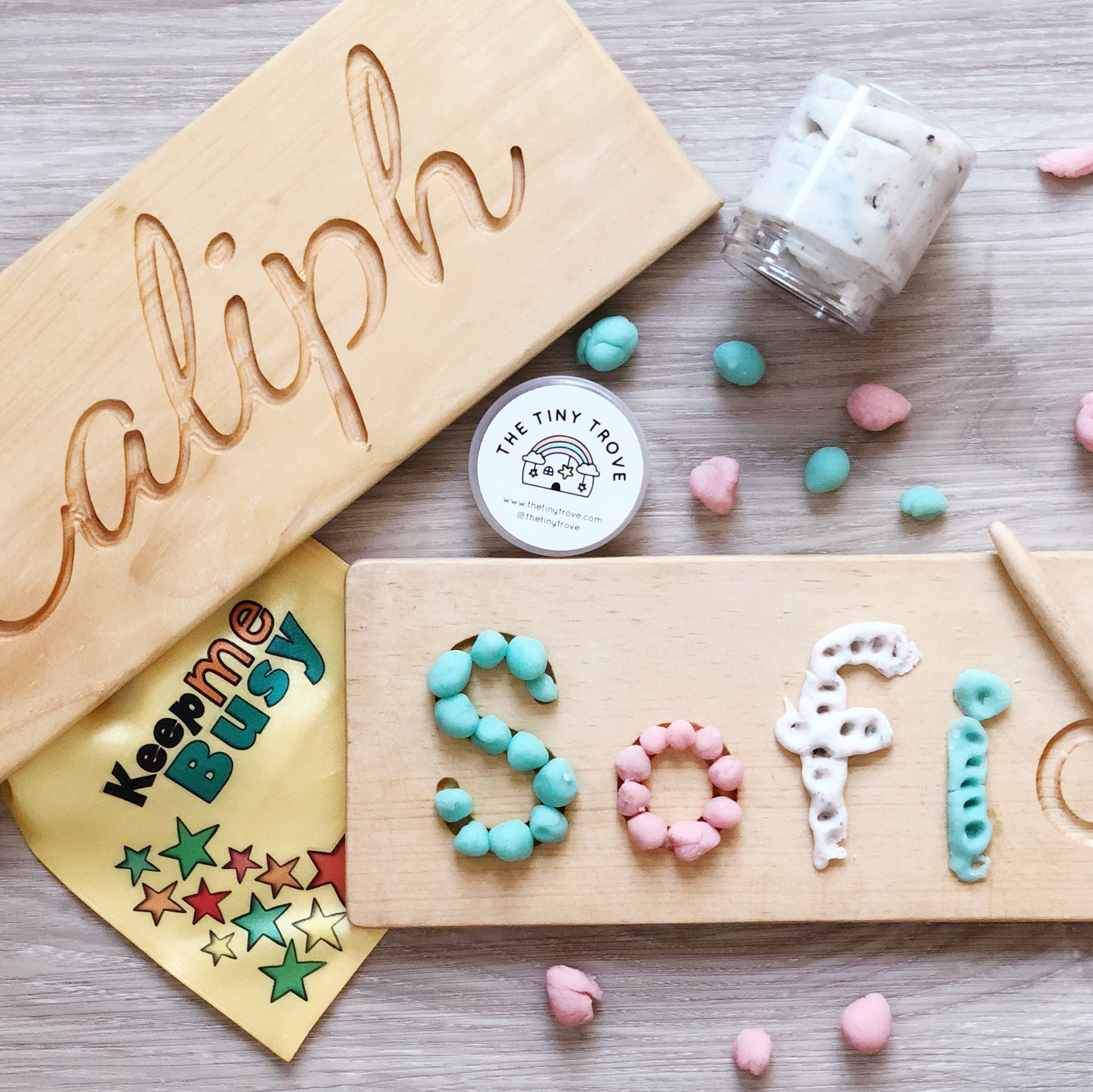 Personalized Tracing Name Board Bundle
