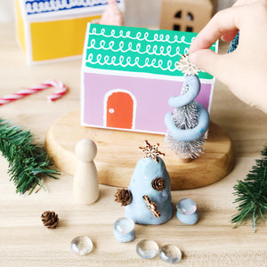 Christmas Village Play Dough Party Favour
