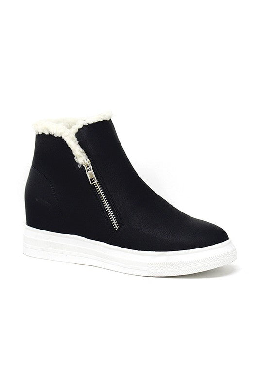 Pre-Order HIGH TOP CASUAL HIDDEN WEDGE SNEAKER