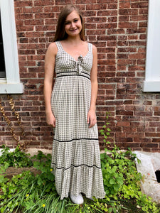 Summer Plaid Maxi Dress