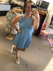Chambray Racer Dress