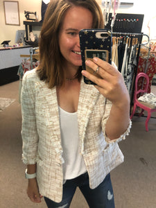 Noah Tweed Fringe Blazer Sport Coat
