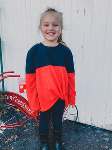 KIDS Color Block Top Black & Red