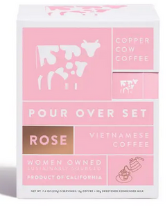 Copper Cow Coffee Rose Latte