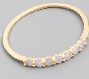 Delicate Studded Ring Gold
