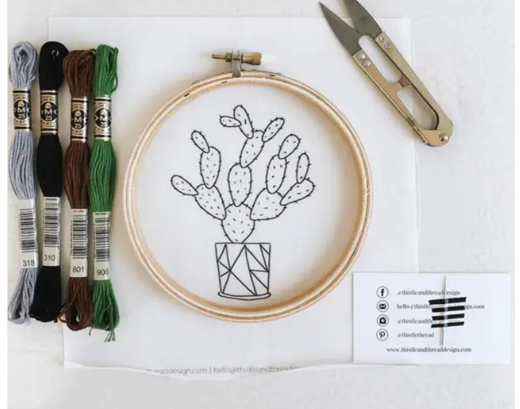 Growing Cacti Embroidery Kit