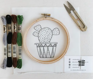 Short Cactus Embroidery Kit