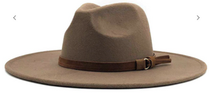 Wide Brim Dandy Panama Hat in Dark Khaki