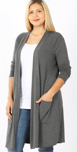 Slouchy Pocket Cardi Plus