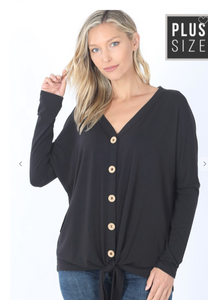 Cute As A Button Top Plus