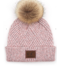 Load image into Gallery viewer, Beanie Heather Pom Pom