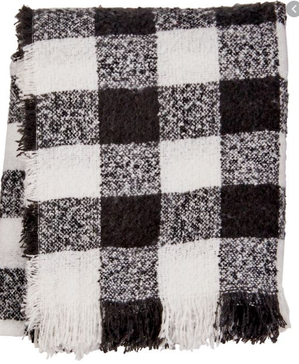 Buffalo Check Throw Black