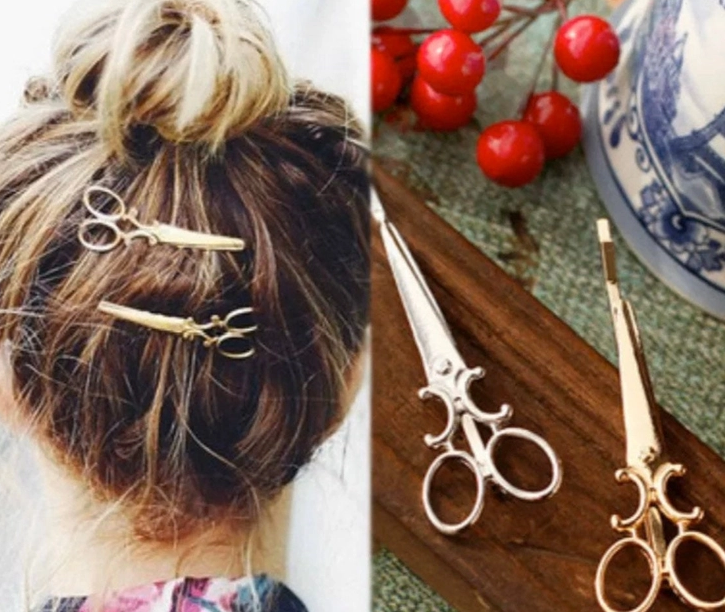 Scissor Hair Pin Gold