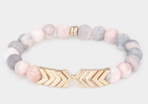 Chevron Stretch Bracelet Pink