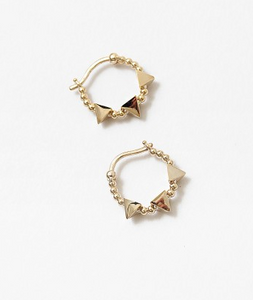 Balls & Triangle Hoop Earring