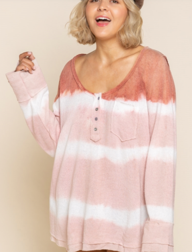 Wild Strawberry Stripe Knit Plus