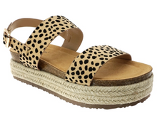 Load image into Gallery viewer, Cheetah Strappy Wedges