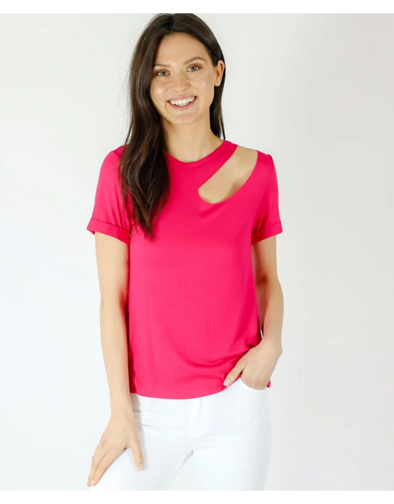 Cut Out Pink Tee