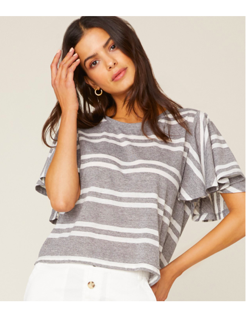 Jack by BB Dakota Draw the Linen Stripe Top