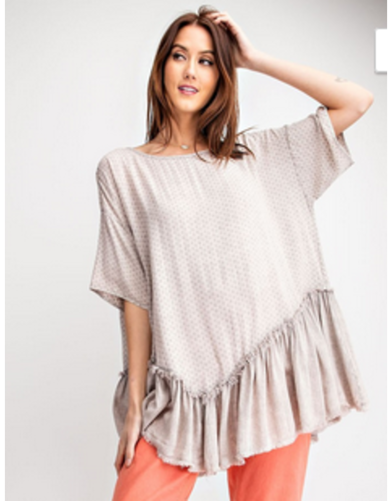 Ruffled Bottom textured Tunic