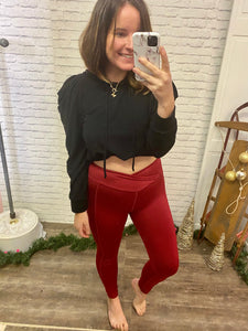 Tik Tok Legging Cranberry