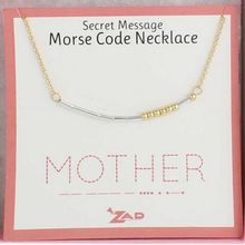 Load image into Gallery viewer, Morse Code Necklace