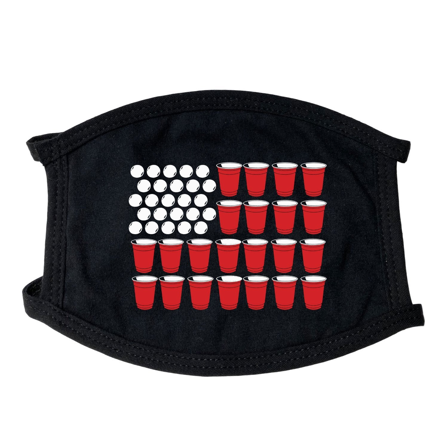 Beer Pong Flag Face Mask