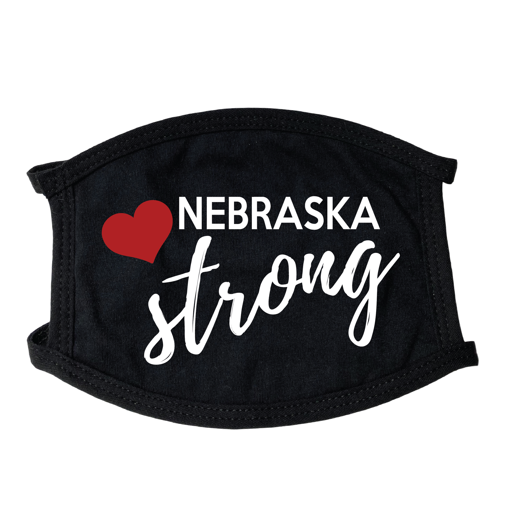 Nebraska Strong Face Mask