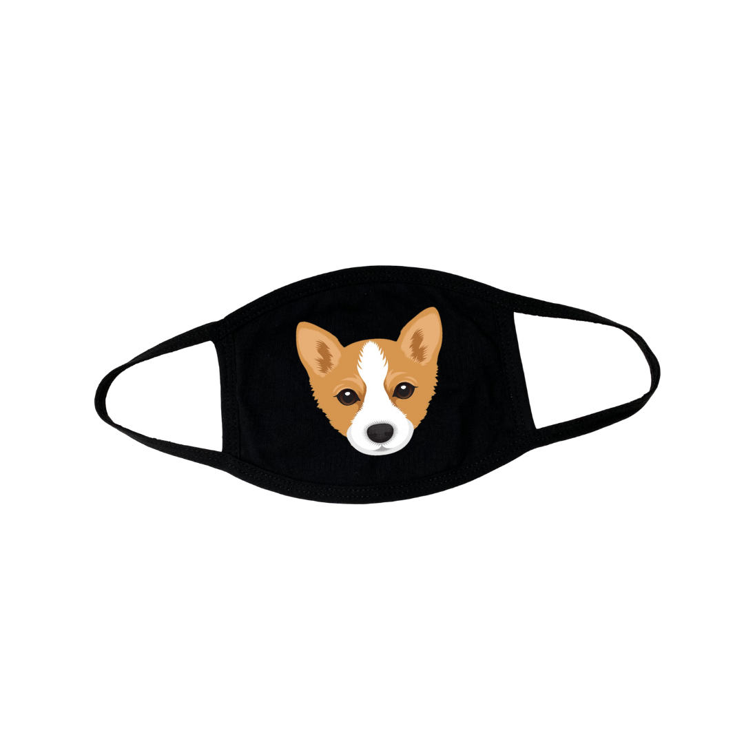 Welsh Corgi Puppy Face Mask