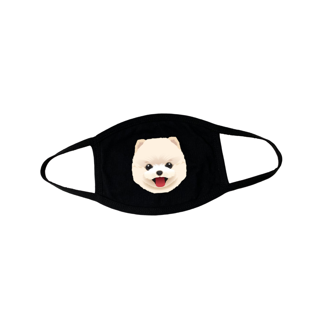Pomeranian Puppy Face Mask
